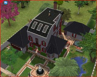 Sims 2 Zenge family house.