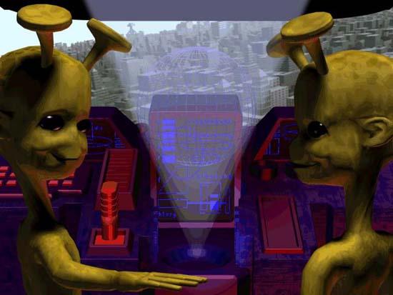 Sim Copter ending credits aliens.