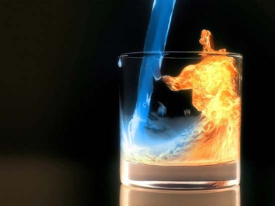 blue fire drink