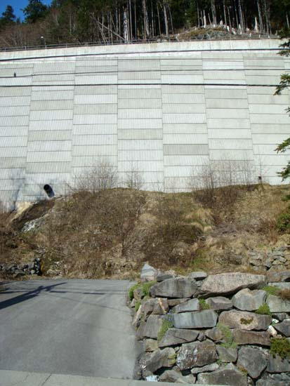 3rd ave bypass wall below the road.