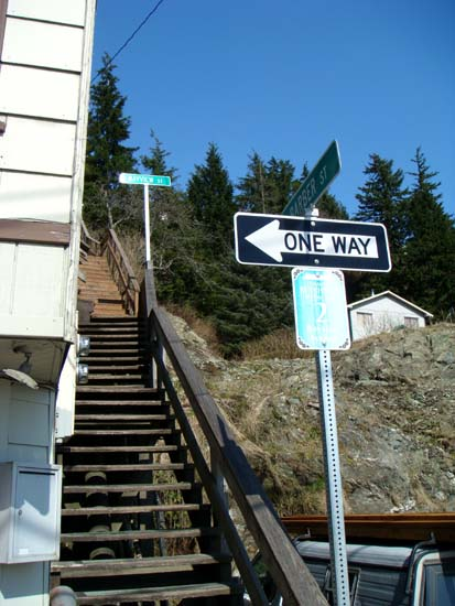Bayview Street and Barber Street stairs.