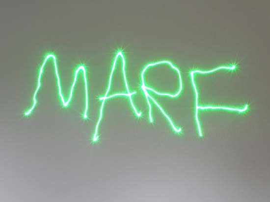 Marf written with a laser