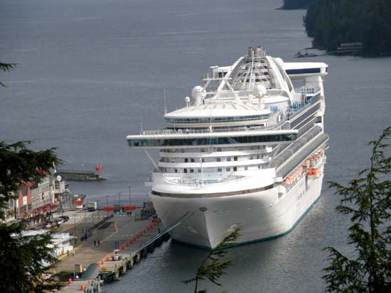 Star Princess zoomed in from 3rd ave in Ketchikan, Alaska May 6, 2008.