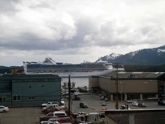 Star Princess leaving Ketchikan, Alaska May 6, 2008.
