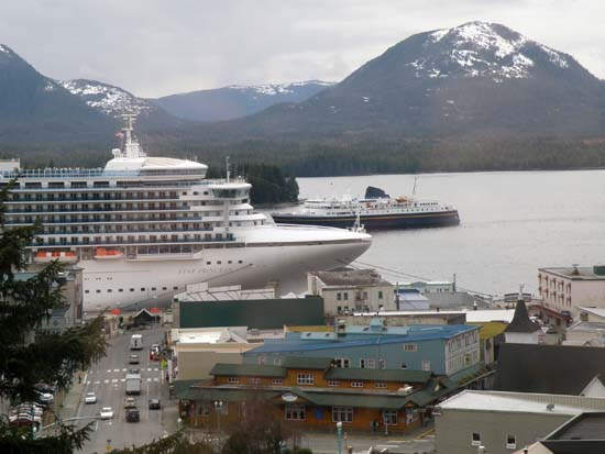 Malaspina passing the Star Princess in Ketchikan, Alaska May 6, 2008.