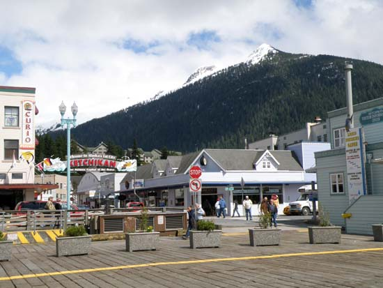 Deer Mountain in Ketchikan, Alaska from the cruise ship docks.
