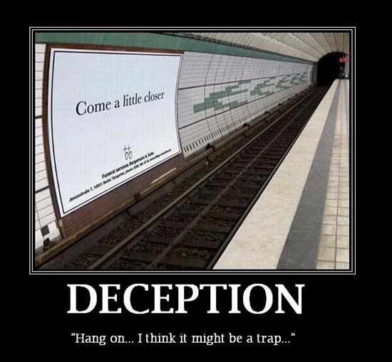 Deception / Hang on... I think it might be a trap...