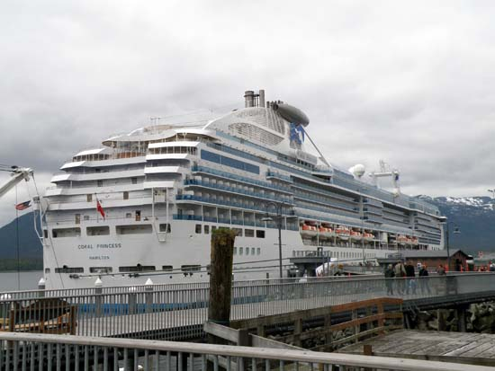 Coral Princess in Ketchikan, Alaska on May 28, 2008.