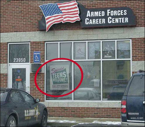 US Armed Forces Career Center * Teens welcome.