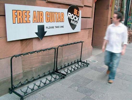 Free air guitar, please take one.