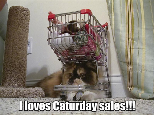 I loves Caturday sales!!!