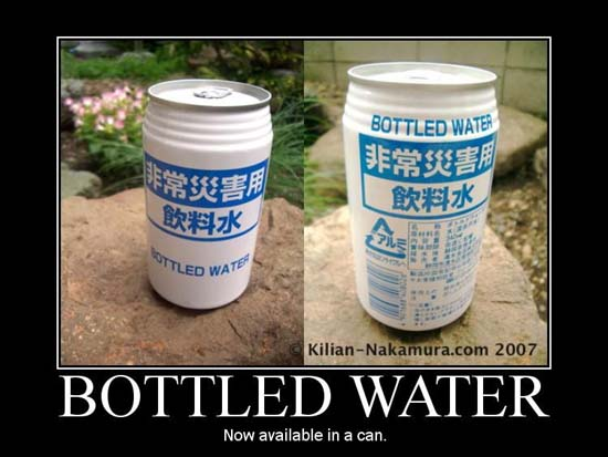 Bottled Water / Now available in a can.
