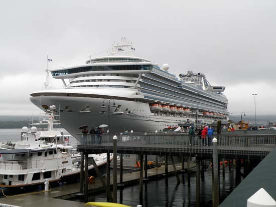 Diamond Princess in Ketchikan, Alaska. July 3, 2008.