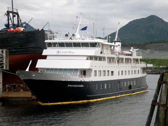 Damaged Spirit of Glacier Bay in Ketchikan, Alaska. July 14, 2008.