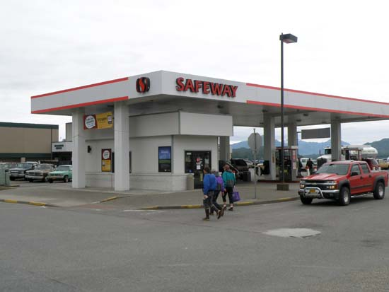 Ketchikan, Alaska Safeway fuel station.