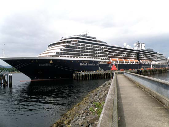 Westerdam in Ketchikan, Alaska. July 25, 2008.