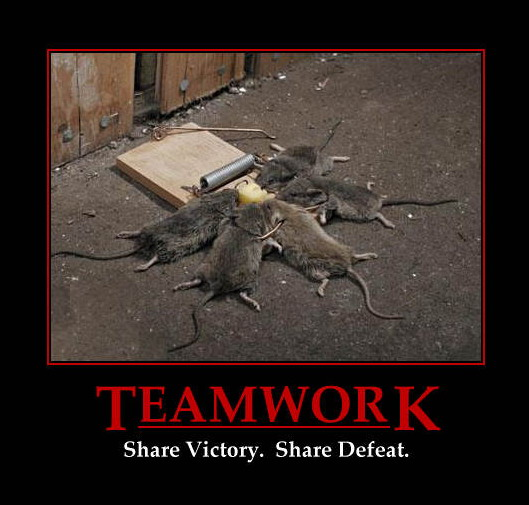 Teamwork / Share victory. Share defeat.