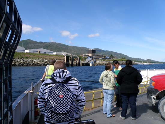 Ferry ride to Gravina Island, Ketchikan Airport.