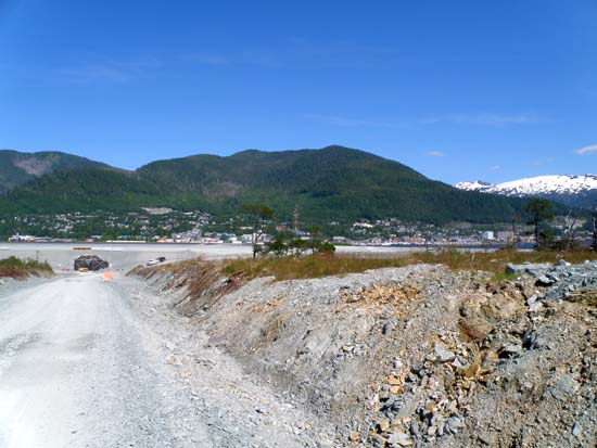 West end of Ketchikan visible, and airport tunnel.