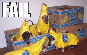 Banana dog costumes