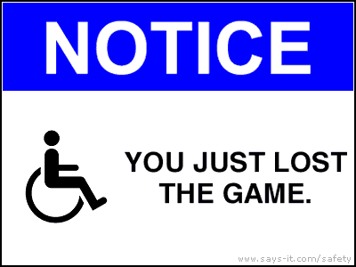 NOTICE / You just lost the game