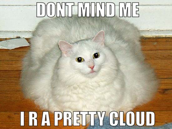 Dont mind me I r a pretty cloud