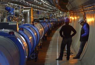 Large Hadron Collider hallway