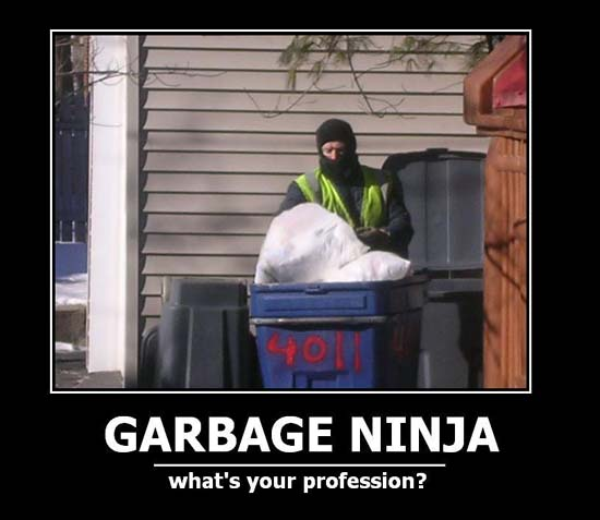 Garbage Ninja / What's your profession?