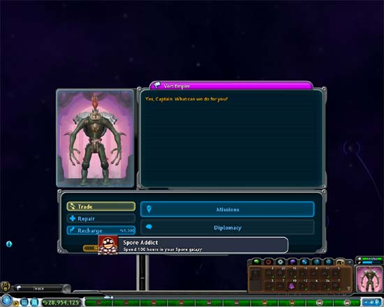 Spore Addict Achievement screenshot.