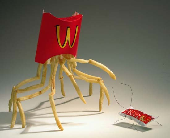 McDonalds fries walking