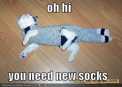 oh hi you need new socks