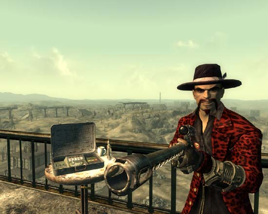 Fallout 3 screenshot, Pimp with a sniper rifle
