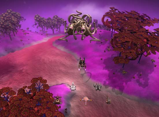 Epic Flying Spaghetti Monster in Spore.