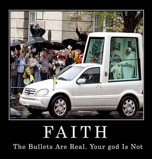 Faith / The bullets are real. Your God is not.