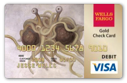 Flying Spaghetti Monster debit card