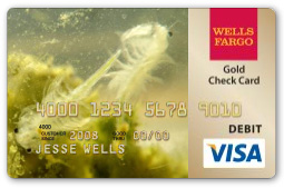 Sea-Monkey Wells Fargo debit card
