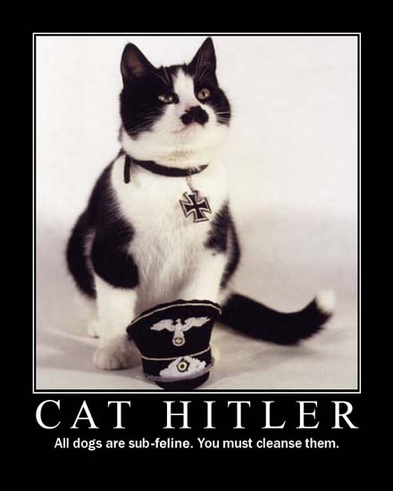 Cat Hitler / All dogs are sub-feline. You must cleanse them.
