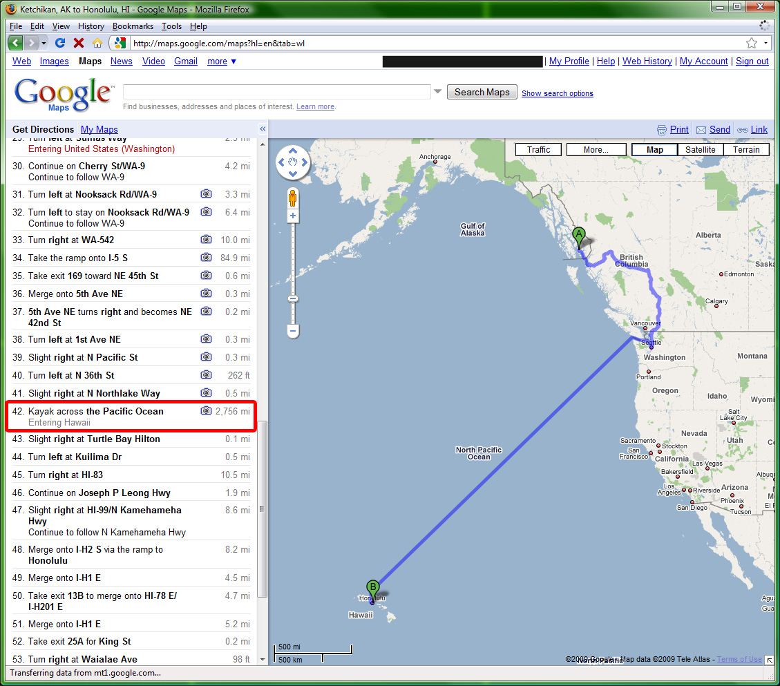 TIL Google once had an Easter Egg hidden in Google Maps that would ...
