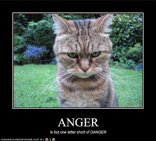 Anger / is but one letter short of DANGER