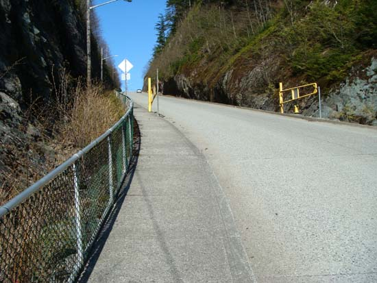 Gates, looking uphill.