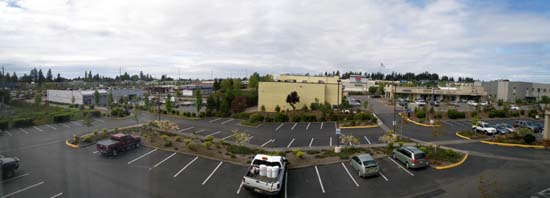 View from Comfort Inn in Federal Way, Washington.