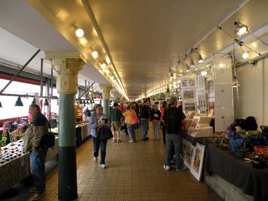 Within Pike Place Market.