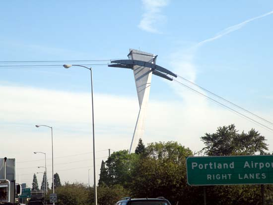 Odd cable structure in Portland, Oregon