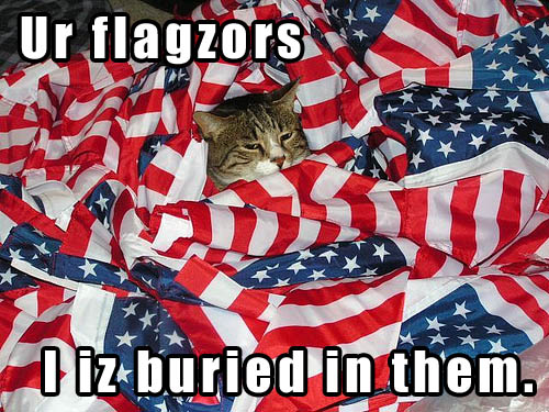 Ur flagzors I iz buried in them.