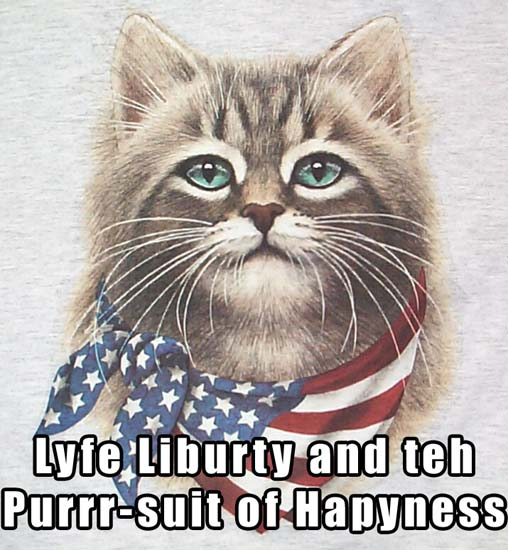 Lyfe Liberty and teh Purrr-suit of Hapyness