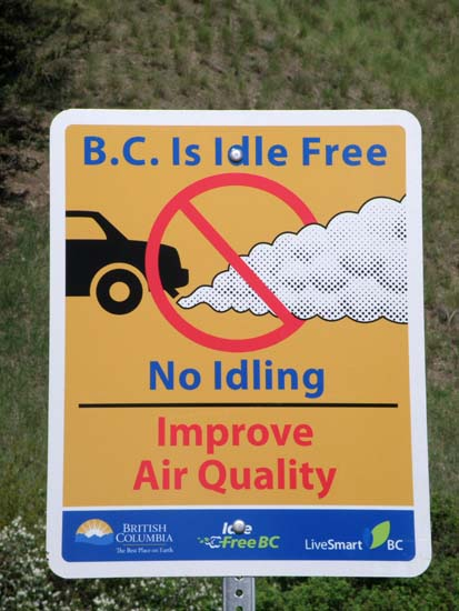 B.C. Is Idle Free / No Idling / Improve Air Quality