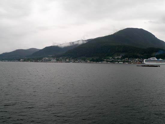 Ketchikan as seen from the water.