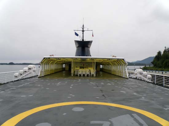 Solarium deck of the Taku.