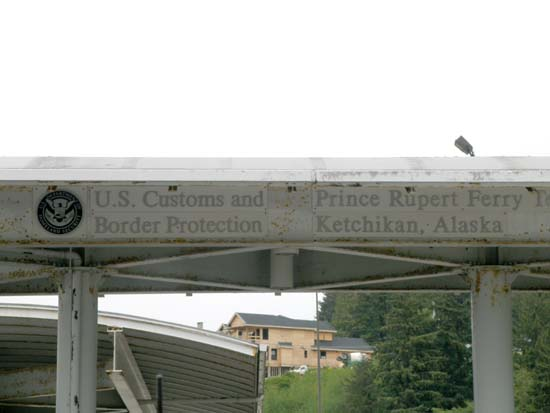U.S. Border in Prince Rupert for the Alaska Ferry System.