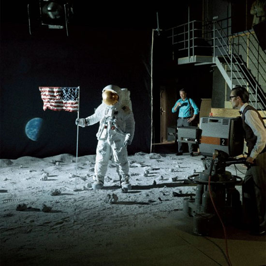 Fake moon landing stage